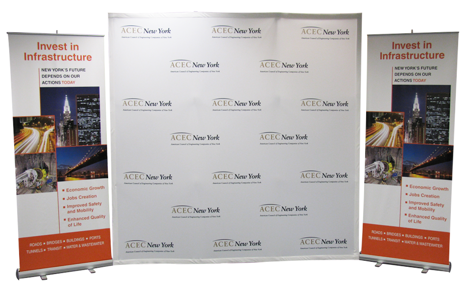 ACEC Media Display and Banner Stand Design