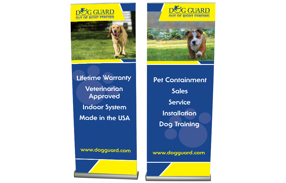 Dog Guard Banner Stands